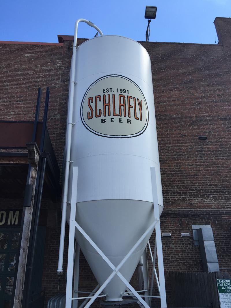 Brewing tank outside The Schlafly Tap Room in downtown St. Louis.
