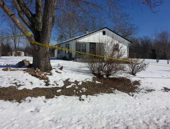 Law enforcement had blocked off this house along Highway H in Tyrone. It's one of multiple scenes being investigated.