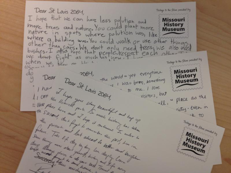 The Missouri History Museum is collecting postcards for a time capsule that will be opened in 50 years, for St. Louis' 300th anniversary.
