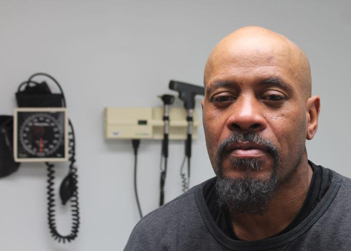 47-year-old David Whitt has a checkup at a new clinic co-located at Places for People.