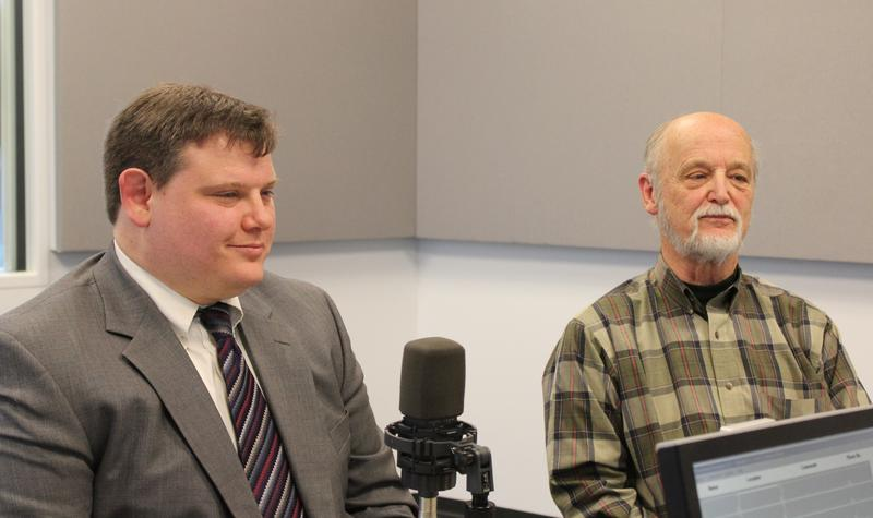 James Regier, Community Mediation Services of St. Louis' mediation coordinator, and John Doggette, the organization's executive director, talk to 'St. Louis on the Air' host Don Marsh about mediation on March 18, 2015, at St. Louis Public Radio.