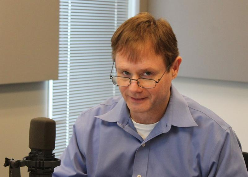 St. Louis certified public accountant Lance Weiss talks to 'St. Louis on the Air' host Don Marsh on Tuesday at St. Louis Public Radio in St. Louis.