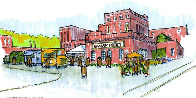 An artists rendering of the St. Louis Swap Meet