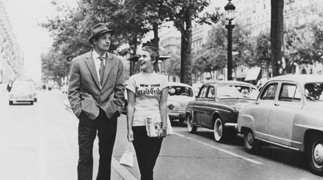 Breathless stars Jean-Paul Belmondo and Jean Seberg.