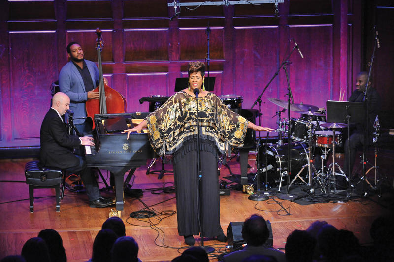 Denise Thimes, Peter Martin, at the piano, Chris Thomas and Montez Coleman preform on 'City of Music.' The Nine Network series premieres March 16, 2015