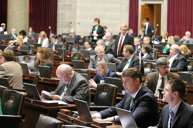 The Missouri House in session on March 17, 2015.