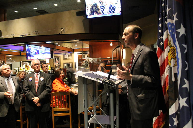 Former state Auditor Tom Schweich speaks at his victory party in Clayton last November. Nixon will select somebody to serve out the remainder of Schweich's term, which runs through the end of 2018.