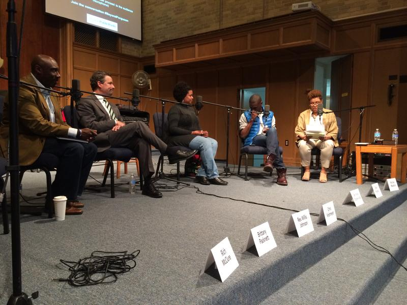 Michel Martin led a two-hour discussion March 23, 2015, about changes in the St. Louis region seven months after Michael Brown's death. This was the second Ferguson and Beyond forum that Martin has moderated, both at Wellspring Church in Ferguson.