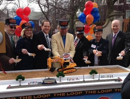 The groundbreaking for the Loop Trolley took place Thursday.