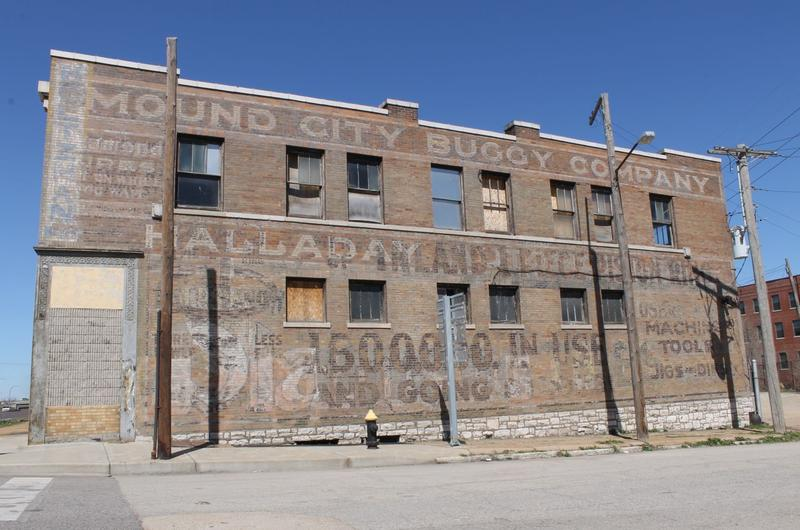 Originally the Independent Brewing Company, this building was built in 1910. It falls within the planned stadium development, as do what may remain underground of the real St. Louis mounds and the Native American community that built them.