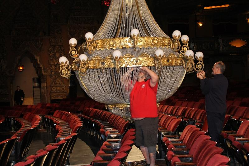 "Working on new chandelier from ""Phantom"""