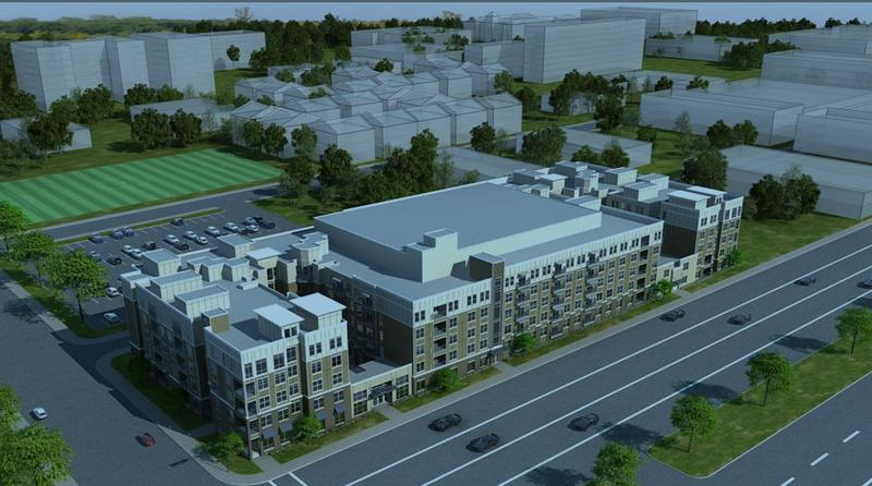 An artist's rendering of The Standard, a 465-bedroom private student housing development going up on Forest Park Avenue.