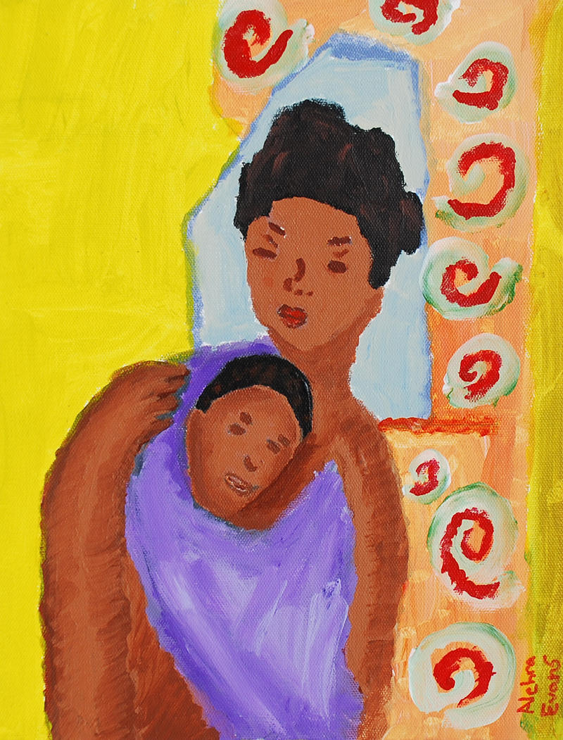 Alehra Evans' Mother and Child