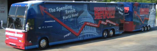 The Spending Revolt Bus