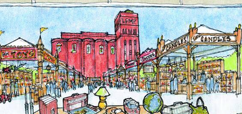 illustration of the St. Louis Swap Meet