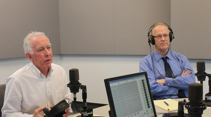 "Professors Robin Hambleton (L) and Todd Swanstrom (R) joined ""St. Louis on the Air"" host Don Marsh on April 22, 2015."