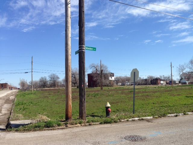 Photo of 25 Street and Maiden Lane, within the footprint of the Northside Regeneration project.