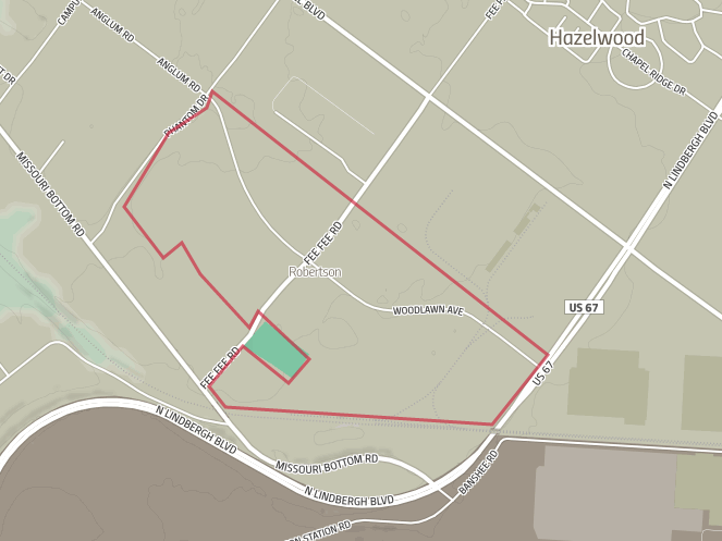 The site of the Hazelwood Logistics Center in north St. Louis County.