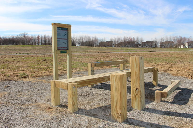 College Meadows Park offers 10 exercise stations similar to this one.
