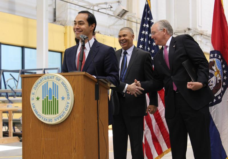 U.S. Housing and Urban Development Secretary Juliàn Castro announces that St. Louis will was named as a Promise Zone.