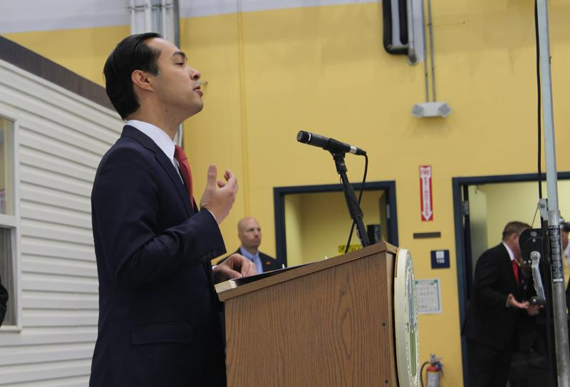 "U.S. Housing and Urban Development Secretary Juliàn Castro announces that St. Louis was one of eight communiteis picked for his agency's ""Promise Zone"" program."