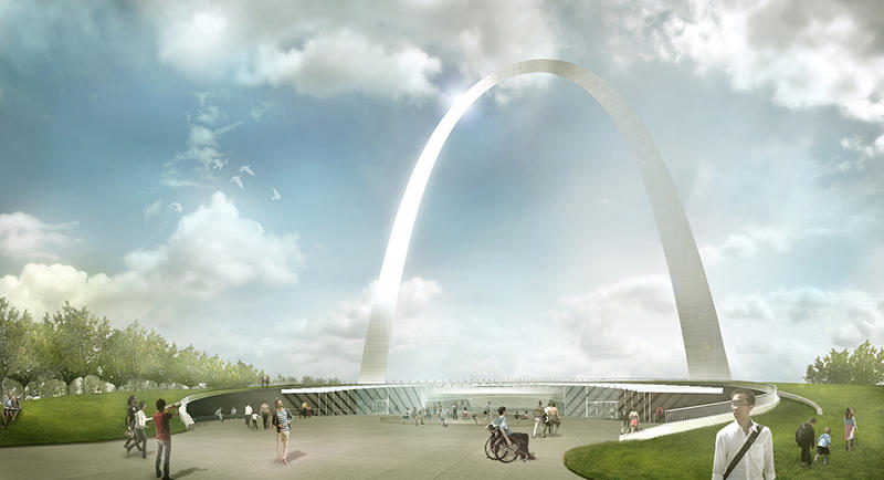 Rendering of the exterior of the renovated Arch museum.