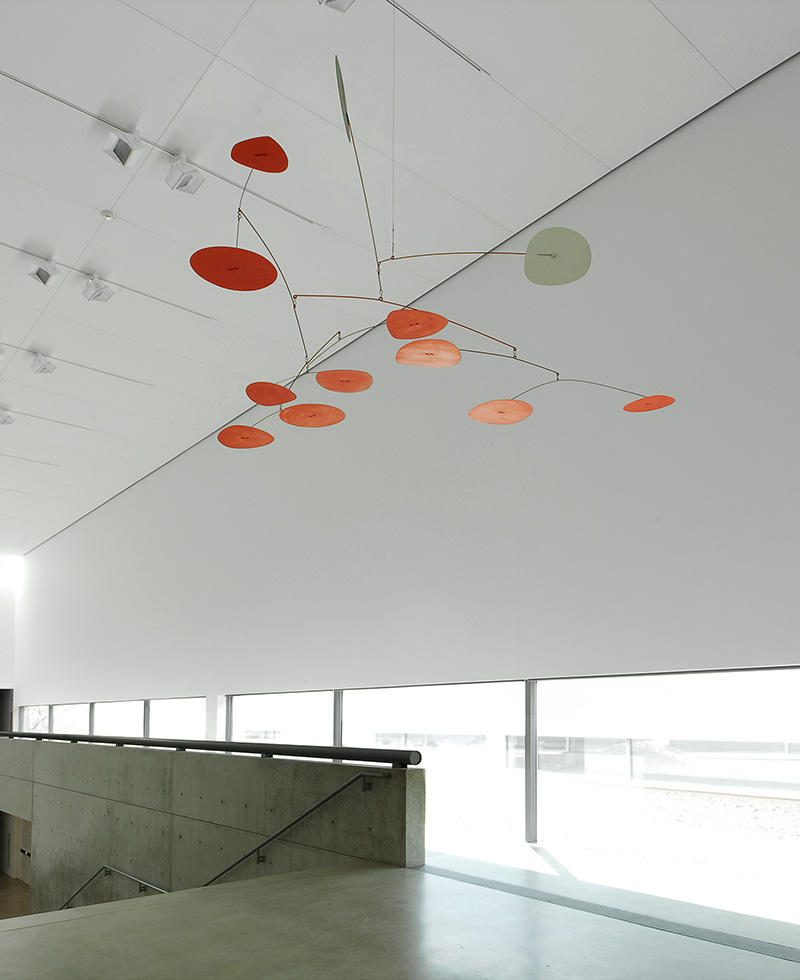 Black, White, and Ten Red by Alexander Calder, in the upper level