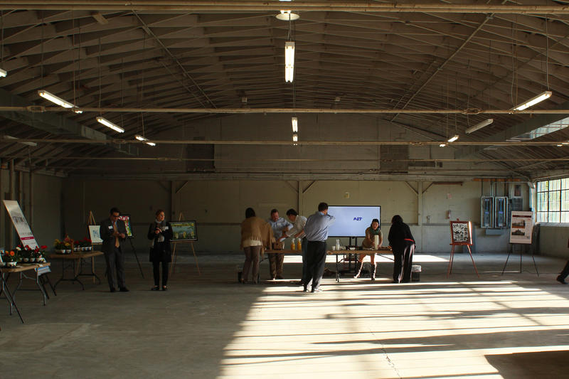 Inside 5959 Delmar.  From left to right will be offices, digital workspaces, studios, sculpture space, and painting spaces.
