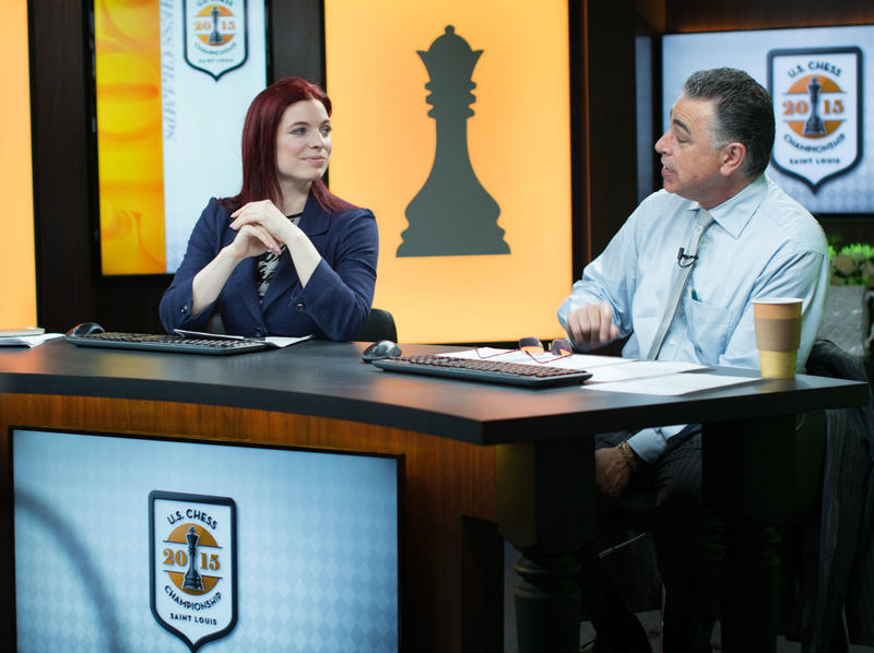 Commentators Jennifer Shahade and Yasser Seirawan host the 2015 U.S. Chess Championships, which kicked off Wednesday at the Chess Club and Scholastic Center of Saint Louis.