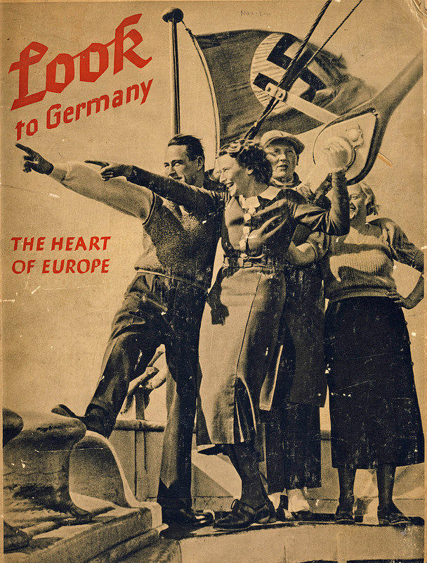 "Item displayed at ""Capturing Hearts and Minds: Images of Nazi Propaganda and Disinformation"" at the Holocaust Museum and Learning Center"