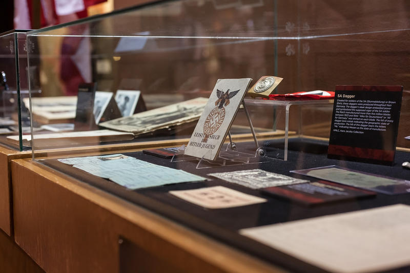 "Items displayed at ""Capturing Hearts and Minds: Images of Nazi Propaganda and Disinformation"" at the Holocaust Museum and Learning Center"