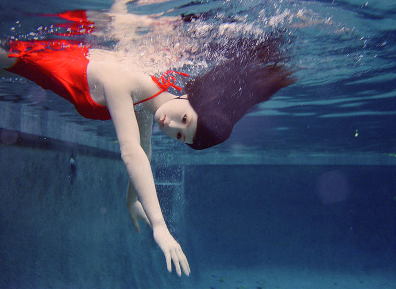 The Love Doll Day 24 (Diving) by Laurie Simmons