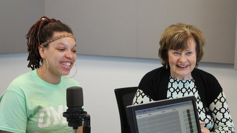 "Asia Slaughter (L) and Judith Cochran (R) joined ""St. Louis on the Air"" host Don Marsh."