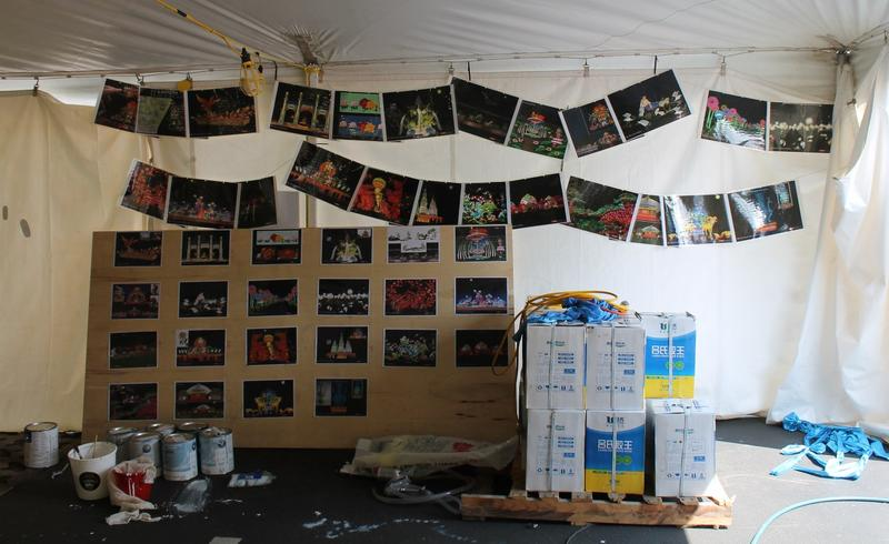Photos of the finished sets serve as a reference when assembling the lanterns.