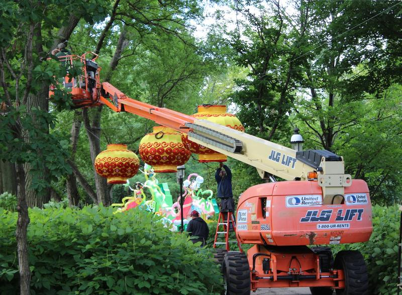 Part of the Chinese Lantern Festival which opens at the Missouri Botanical Garden on May 23.