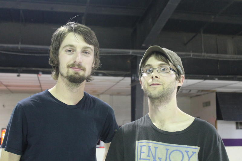 """Sean Ballard (left) and Curtis Tinsley (right) agree: """"I think small press is pulling together. Now more than ever I think it keeps kinda getting bigger,"""" said Tinsley. Ballard responded, """"Yeah, people are interested."""""""