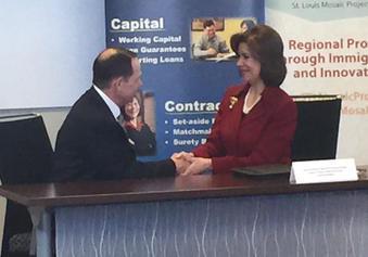 Mayor Francis Slay, SBA Administrator Maria Contreras-Sweet