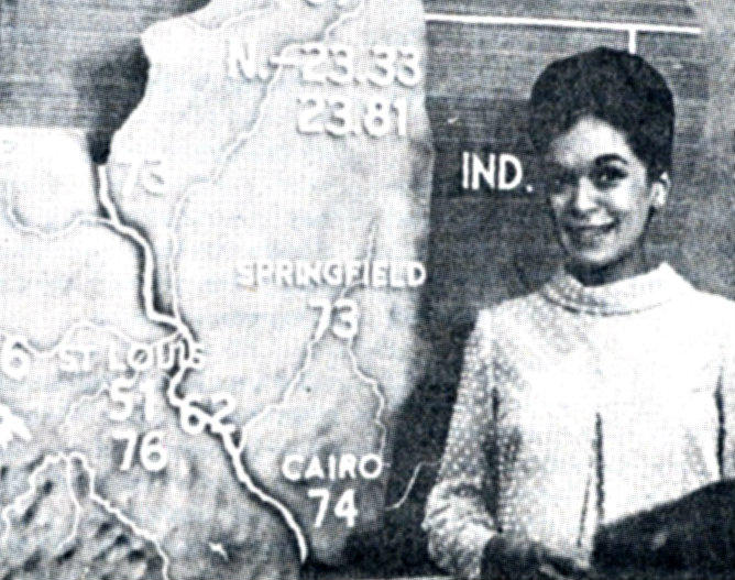 Dianne White, as she was professionally known, at work at KSDK