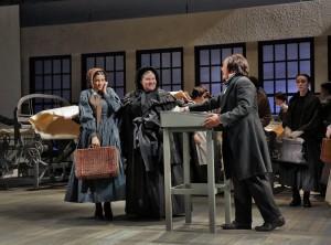 Joyce El-Khoury as Emmeline Mosher, Meredith Arwady as Aunt Hannah Watkins, and Geoffrey Agpalo as Hooker in Opera Theatre of Saint Louis' 2015 production of Emmeline.