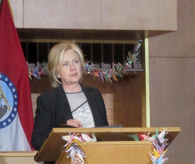 Hillary Clinton at Christ the King United Church of Christ in Florissant June 23 2015.