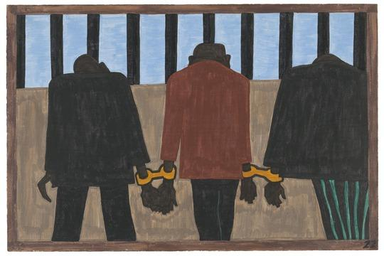 Jacob Lawrence. The Migration Series. 1940-41. Panel 22.