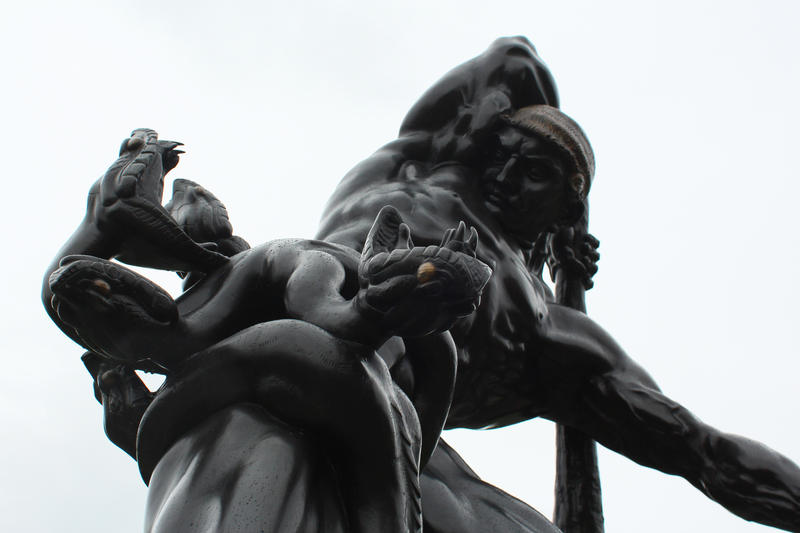 Mathias Gasteiger, German, 1871-1934; Hercules and the Hydra, 1921-30; bronze; 95 ½ x 77 x 56 inches; Saint Louis Art Museum, Funds given anonymously 1:1930