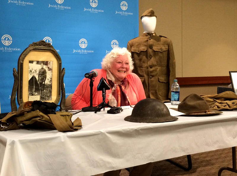 Surrounded by her father's military mementos on Wednesday, May 20, 2015, Elsie Shemin-Roth speaks about how much it means for her father to be awarded the Medal of Honor.