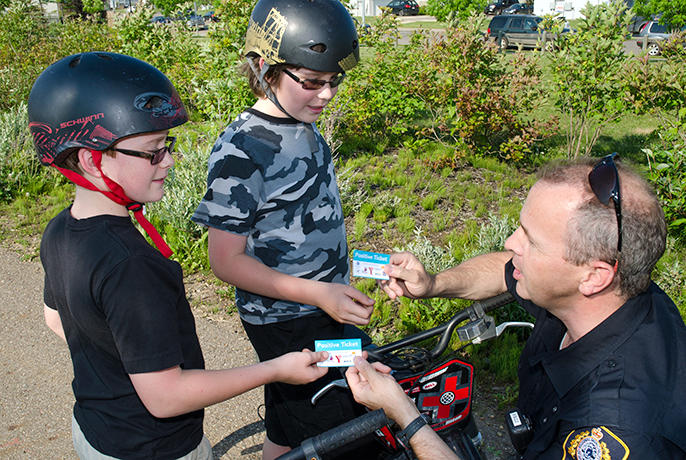 Through the Positive Ticketing Program (first started in Canada), North County police will reward kids doing good or showing good behaviors with