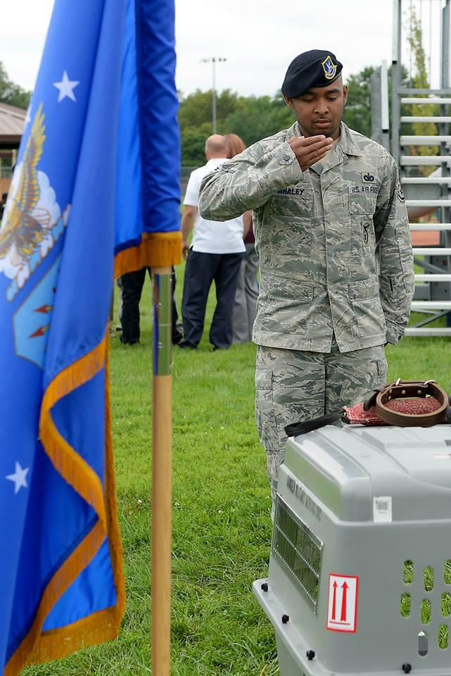 The memorial service for Breston was held last week at Scott Air Force Base's Warrior Park, near Belleville, Ill.