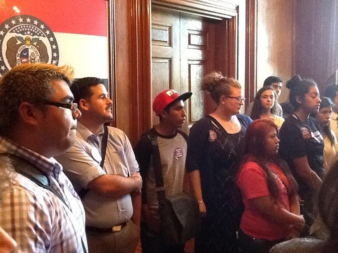 DACA students delivered petitions to former Gov. Jay Nixon