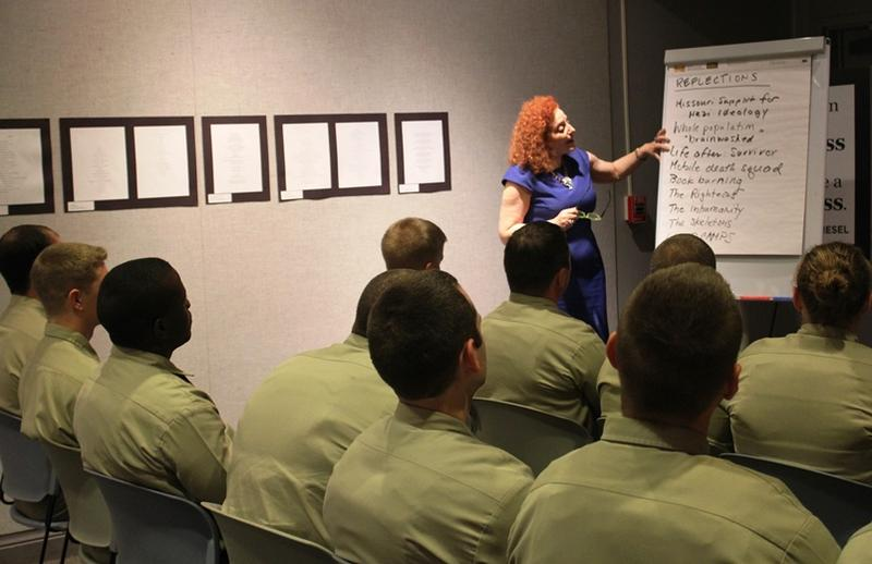 Karen Aroesty of the Anti-Defamation League leads a diversity awareness training for police cadets.