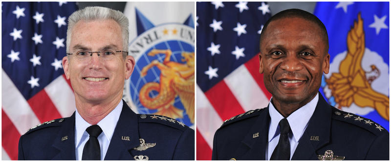 Gen. Paul Selva, left, and Gen. Darren McDew