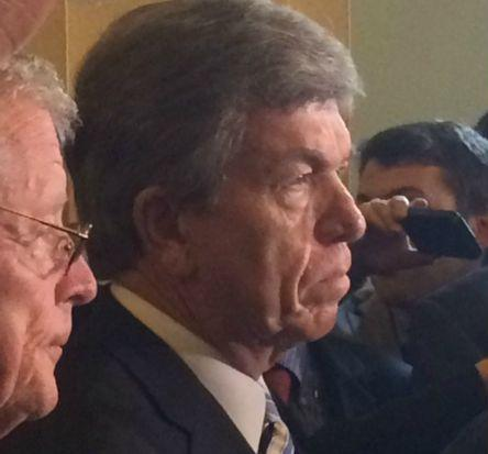 Sen. Roy Blunt talked with the media early last week. july 2015