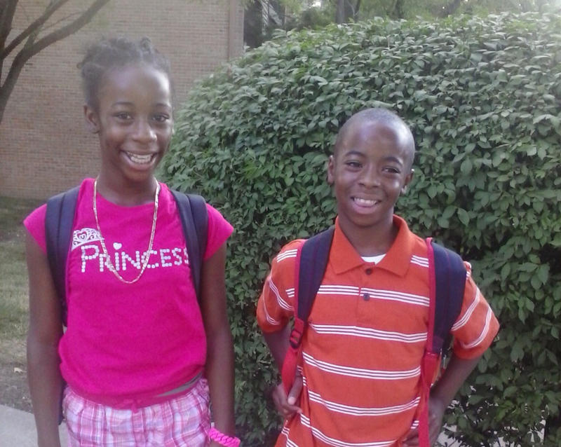Courtney Turner (left) and her twin brother Courtland, in a 2014 family photo.